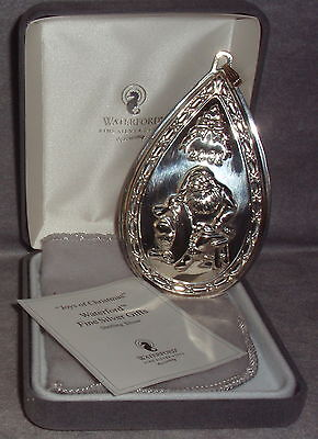 Reed Barton Waterford 2001 Sterling Joys Of Christmas Ornament Pendant Medallion