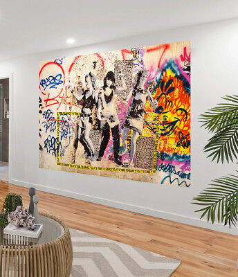Painting Graffiti Street Art disco mural stencil dancing Print Canvas Australia