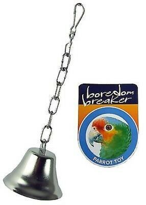 Rosewood Large Metal Bell Hang In Cage For Birds Parrots Greys Amazon Cockatoo