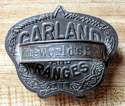 Vintage Garland Stoves & Ranges Cookie Cutter w/Handle Tin Advertising