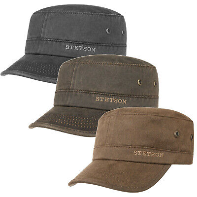 Stetson Datto Engineers / Military Cap Black or Brown (7491102)