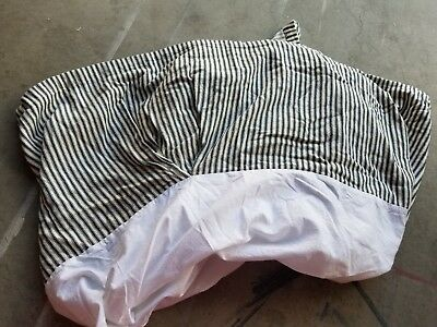 "Restoration Hardware Baby & Child ""Blue Ticking Stripe"" Crib Skirt"