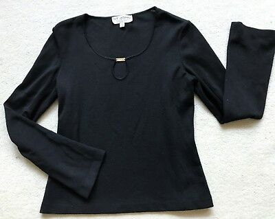 St.JOHN COLLECTION by Marie Gray Black Knit LONGSLEEVE TOP- Size M