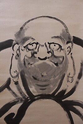 Q09C1 ~達磨 DARUMA Bodhidharma~ Japanese hanging scroll