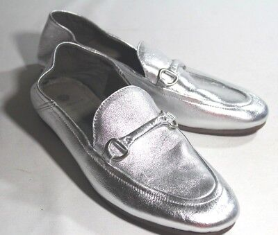 H by Hudson Metallic Red Arianna Flat Brogues Shoes Leather Pumps Loafers 8 41