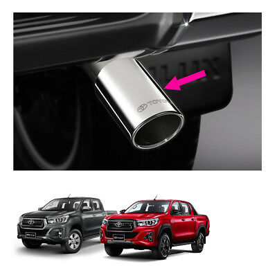For Toyota Hilux Revo Rocco 4 Door 15 18 19 Exhaust Pipe tip Trim Stainless