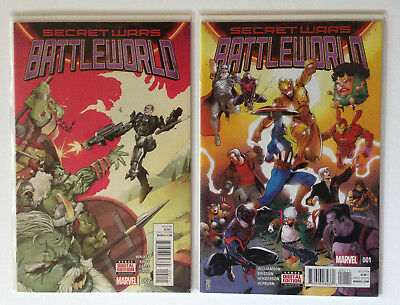 SECRET WARS: BATTLEWORLD #1 and #2 [2 Book Lot]- Marvel Comics (2015)  NM-