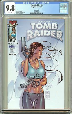 Tomb Raider #9 CGC 9.8 White Pages 1268710021 Michael Turner Cover