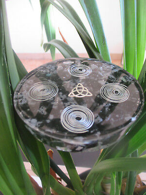 Orgonite en obsidienne noire protection ondes electromagnetique, wifi