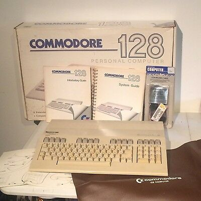 Commodore 128 Personal Computer with Box Cover Instruction Books