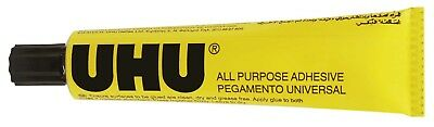 5 x 125ml UHU All Purpose Adhesive Strong Clear Glue For Metal Glass Ceramic