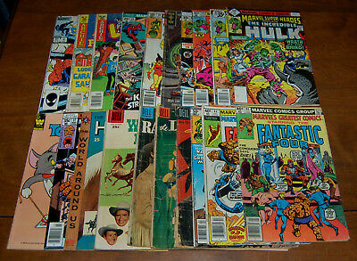 Mixed Comic Lot of 20 Golden Silver Bronze Copper Age Low Grade PR/FR to VG+ (b)