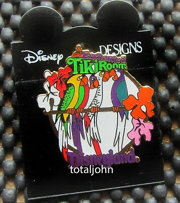 Disney DLR - 1998 Attraction Series - Enchanted Tiki Room Parrots Pin