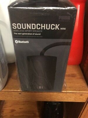 Puma Golf Soundchuck Mini Bluetooth Speaker - Black- Brand New - MSRP $79.99