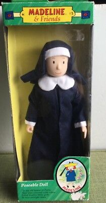 Madeline & Friends Nun Miss Clavel  Poseable Doll In Box Eden