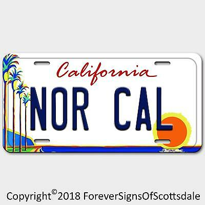Nor Cal California State/College Vanity License Plate White