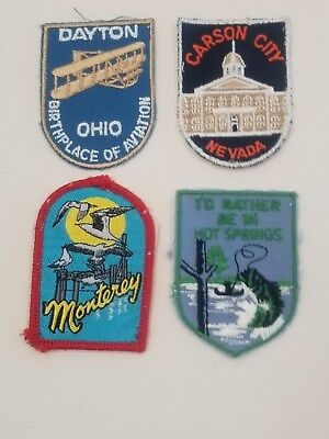 Vintage Voyager Patches Dayton OH Carson City Nevada Monterey Hot Springs