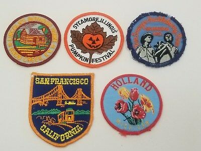 Vintage Voyager Patches Lincoln Home Hannibal Mo San Francisco CA Holland MI