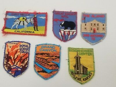 Vintage Voyager Patches Death Valley Smoky Mts Alamo Royal Gorge Grand Canyon