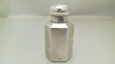 Antique Victorian Solid Silver Perfume Scent Bottle Chester 1887 Horton  Allday