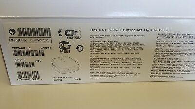 New Genuine Hp Jetdirect Ew2500 J8021A Wireless Print Server