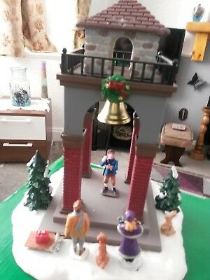 Lemax Table accent  ringing the bell christmas
