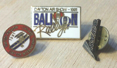 Vintage 1991 Lot Dayton Ohio Air Show & Balloon Rally Lapel / Hat Pins