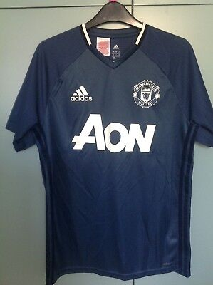 boys man united shirt adidas climacool blue age 15years to 16 years