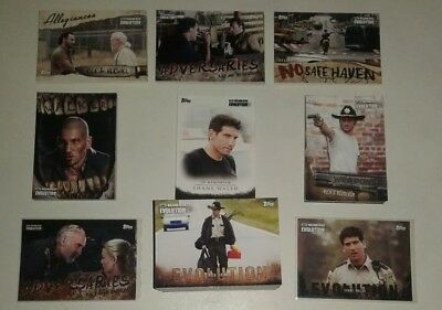 2017 Topps Walking Dead Evolution COMPLETE SET 1-100+ALL 62 INSERTS+2 PARALLELS