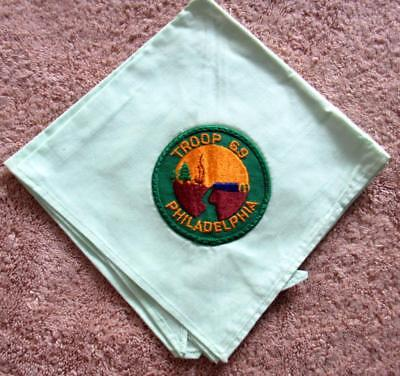 VINTAGE BOY SCOUT NECKERCHIEF - Philadelphia Council - Troop 69 HAVE TWO TO SELL