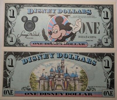 Original 1987 1st Year, 2nd Series DA Disney Dollar  ** Mint