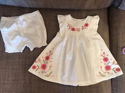 Baby Girl Beautiful White Summer Dress With Pants Dress