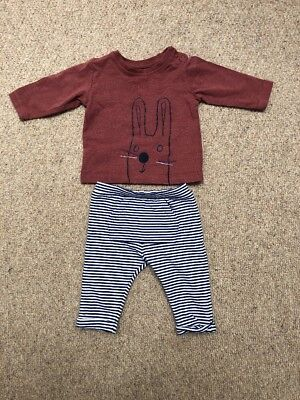 Marks And Spencer Boys 0-3 Months Set Worn Once Trousers Top Bundle