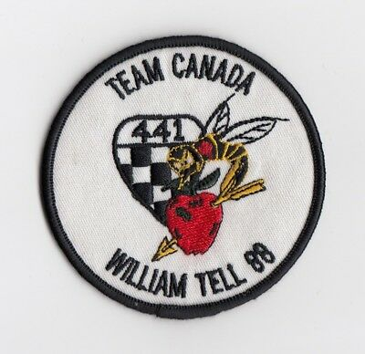 RCAF  -  441 Squadron  -  Exercise  William  Tell 1988  -  TEAM CANADA  patch