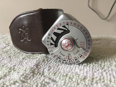 Nk Nihon Koden Exposure Foden Light Meter Cold Shoe Fitting With Leather Case