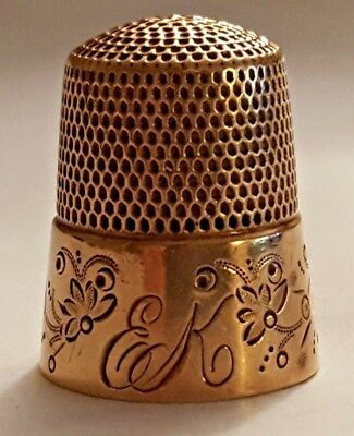 Antique Rose Gold Thimble by Ketcham & McDougall *Circa 1880s