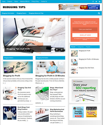 BLOGGING GUIDE - Fully Featured Niche Website For Sale - Newbie Friendly