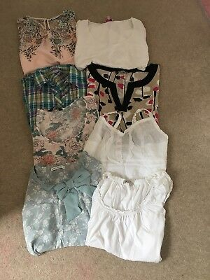 X8 Job Lot Size Bundle 18 Summer Holiday Tops Shirts Peruna Next John Rocha DP