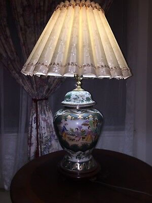"""End Table China Fine and old Vintage Chinese porcelain vase - 22"""" LAMP"""