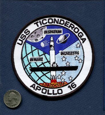 CVS-14 CV-14 USS TICONDEROGA NASA APOLLO 16 RECOVERY SHIP US NAVY Squadron Patch