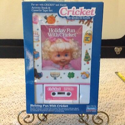 Playmates Original 1986  Holiday Fun With Cricket Doll Cassette Tape  Book MIB