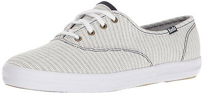 Keds Womens Champion Fabric Low Top Lace Up Fashion Sneakers, Blue, Size 6.0
