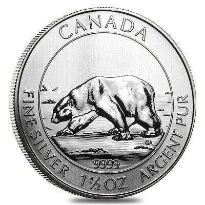 2013 1.5 oz Canadian Silver Polar Bear $8 Coin .9999 Fine BU
