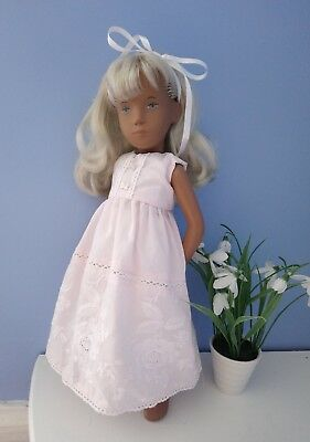 BJB Vintage Sasha dolls clothes Pretty pink embroidered dress