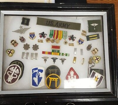 Ww2 Us Army Lot Patches, Pins , Ribbons, Picture
