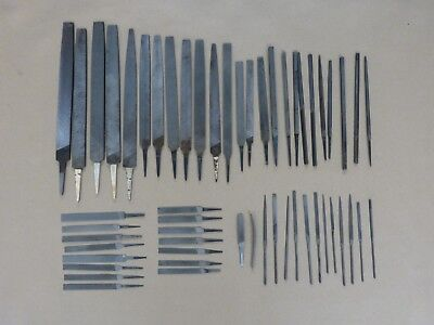 Vintage Machinists' Files - Lot of 54, Various Sizes, American and Swiss Made