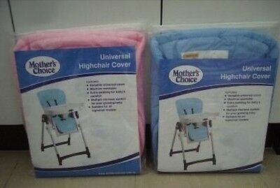 New Universal Fit Mothers Choice High Chair Cover Highchair Cover Blue Or Pink