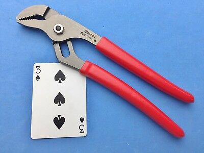 """NEW 2018 Snap on Adjustable Interlocking Channel pliers 9-1/2"""" 91ACP USA MADE"""