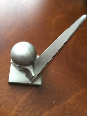 Rare 1939 New York World's Fair Trylon and Perisphere Metal Souvenir Paperweight
