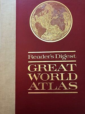 Readers Digest Great World Atlas 1963 First Edition 11x16 Large Hardcover Book